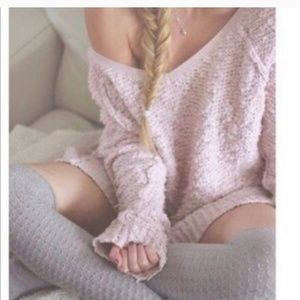 Free people songbird chunky pullover sweater